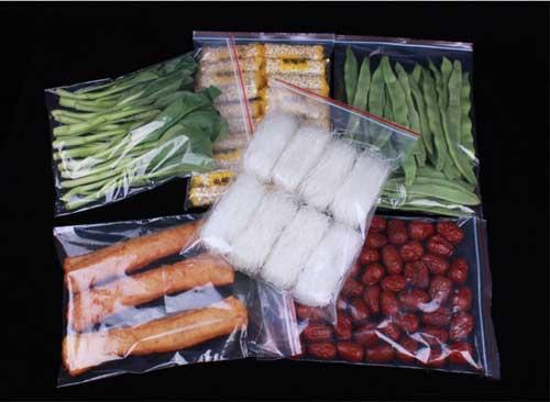 Sacos para acondicionamento de alimentos