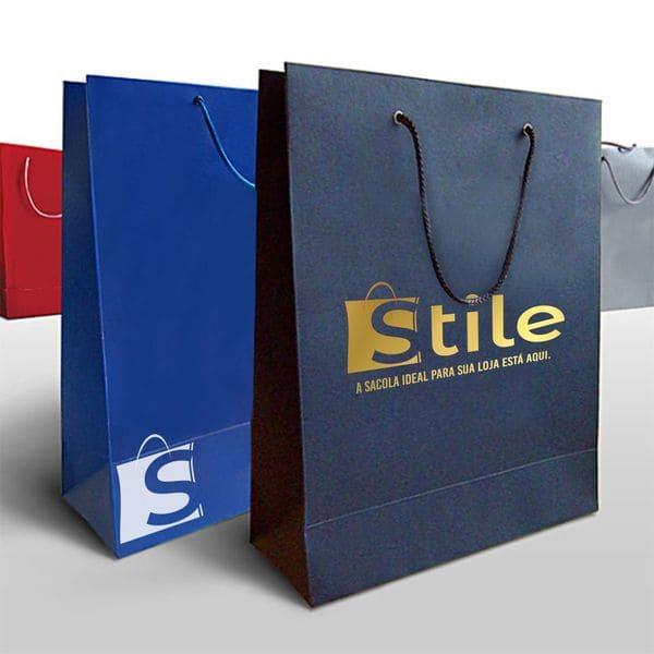 Sacola de papel offset - Gráfica Stile
